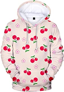 3D Fruit Hoodies Men Women Sweatshirts Hooded Sweet Kiwi Polluvers Design Tracksuit Sportwear Hooded