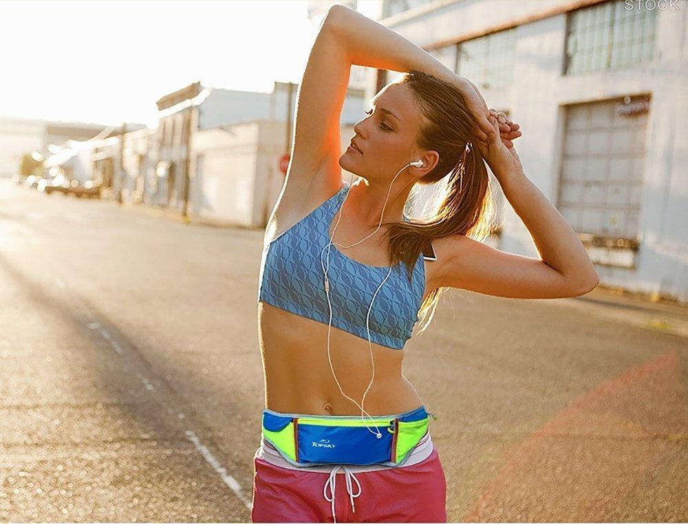Topsky 运动跑步腰包男女马拉松装备超轻透气休闲迷你健身腰包贴身户外多功能小腰带防水音乐手机包 30378