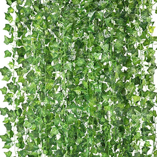 HATOKU 18 Pack Fake Vines for Room Bedroom Aesthetic Decor Artificial Ivy Leaves Garland Greenery Wall Hanging Plants Artificial Vines, 126 Feet