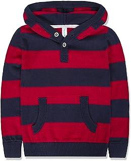 Benito & Benita Boys' Pullover Sweater Crew Neck Cotton Stripe Sweater Casual Style for 2-12Y