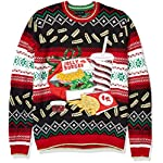 Blizzard Bay Men's Ugly Christmas Sweater Food 5 Festive and humorous patterns that are perfect for the holiday season Made with a soft knit for a comfortable and easy fit
