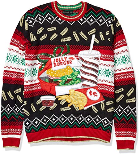 Blizzard Bay Men's Ugly Christmas Sweater Food 1 Festive and humorous patterns that are perfect for the holiday season Made with a soft knit for a comfortable and easy fit