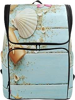 Beach Seashell Mermaid Large School Backpack Bookbag Women Men Travel Hiking Camping Daypack