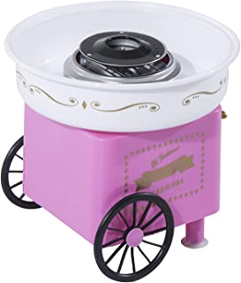 Machine barbe à papa professionnelle 550 W max. design chariot de carnaval rose