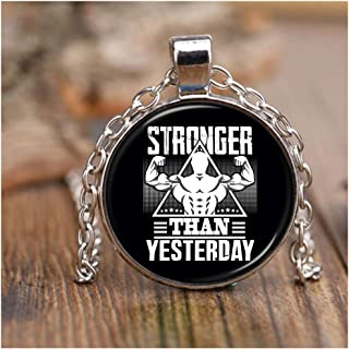 CARONECK Sporty Weight Necklace Nickel, Stronger Than Yesterday Necklaces