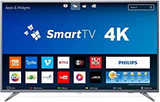 TV LED Smart Ultrafina 4K, Philips 50PUG6513/78, Prata