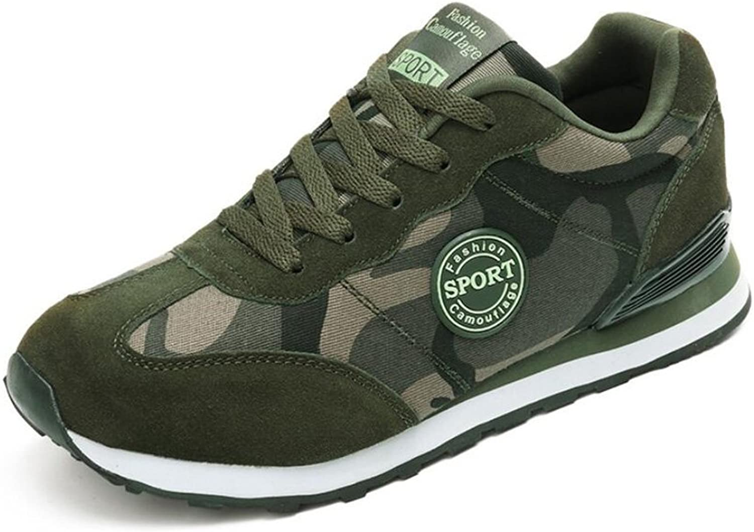 WYX shoes Men's Sneakers, New Canvas Couple Models Camouflage shoes,Outdoor Training shoes ,Military Green shoes,Casual Travel shoes,Single shoes outdoor (color   1, Size   42)