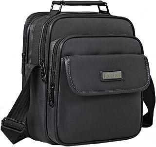 BXT Business Arbeitstasche, Herrentasche, Schultertasche, Wasserdichte Umhängetasche, Ipad Messenger Bag Weekender Freitag Handtaschen, Schwarz