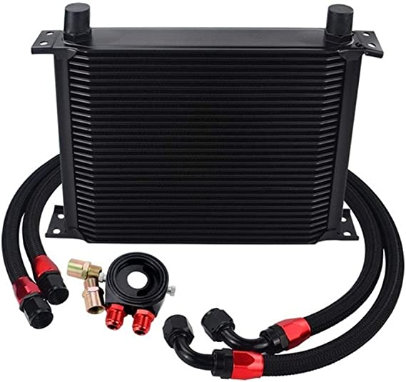 Nylon Stainless Steel Braided Hose Black 6721 N//A Vehicle Accessories 13 Row Oil Cooler KIT Oil Filter Sandwich Adapter