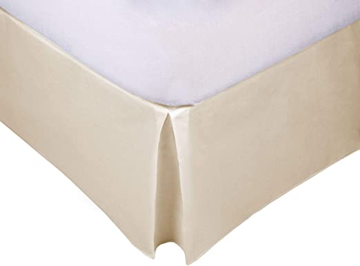 MB - Cubre Canapé Beige para somier - Cama 135x190-50% poliéster 50% algodón - Fácil de Colocar y Lavar