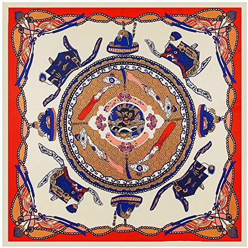 CLSWK Zijde Sjaal Draak Boot Print Neckerchief Merk Royal Square Sjaals Lady Vrouw Bandana Grote Hijab