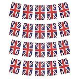 Union Jack rechteckige Wimpelkette, 9 m, mit 20/30 Anhängern für nationale Feiern (Großbritannien) 20 Flaggen.