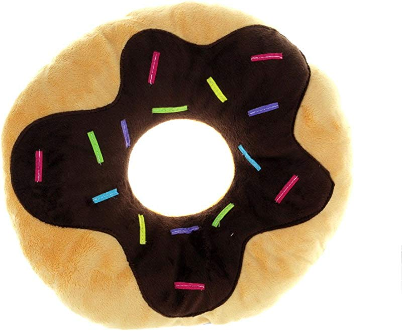 Snuggle Stuffs Sprinkles Donut 14 Plush Throw Pillow Chocolate