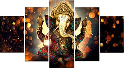 wangjingxi Lord Ganesha Pinturas sobre Lienzo En La Pared Dioses Hind/úes Cl/ásicos Carteles E Impresiones Hinduismo Cuadros Decorativos para Sala De Estar 60X80Cm