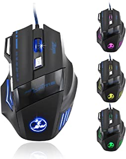 77b48aa2774 Zelotes 5500 DPI 7 Button LED Optical USB Wired Gaming Mouse Mice for Pro  Gamer