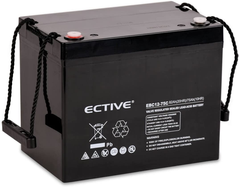 Ective Bleiakku 12v 67ah Zyklenfeste Agm Batterie Blei Elektronik