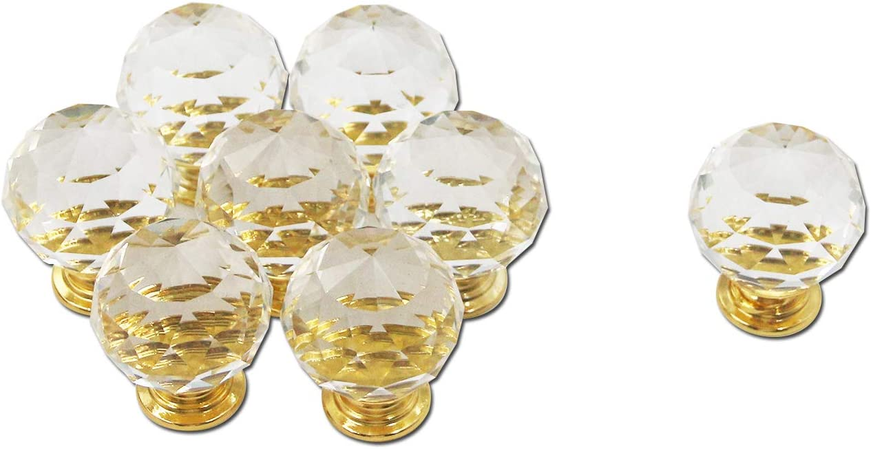 Very popular Cabinet Knobs Mcredy Draw Crystal 1.2 Gol Directly managed store Inch Transparent