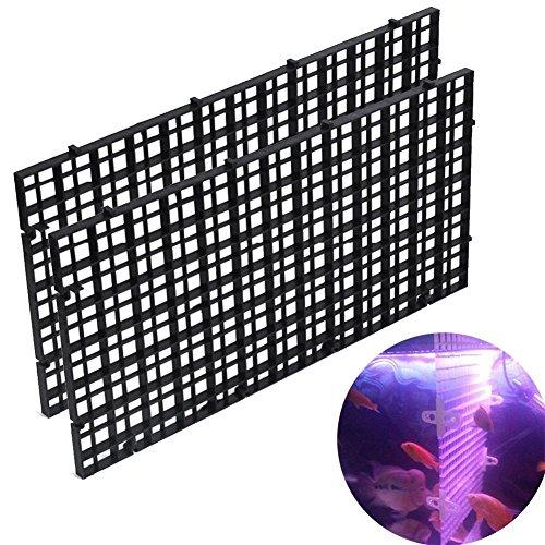 Woopower Fishtank divisori, 2confezioni da 30x 15cm divisorio per acquari isolare board-grid vassoio Egg Crate filtro inferiore Lsolate, nero/bianc