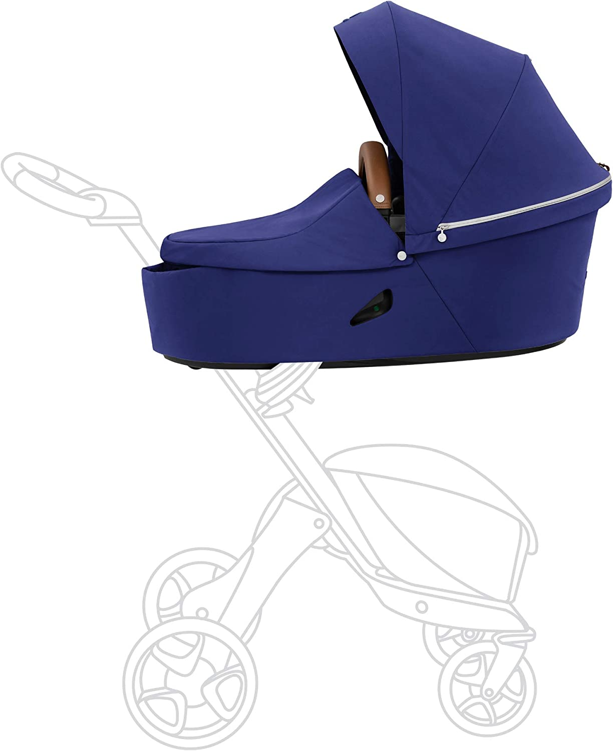 Stokke Xplory X Carry Cot, Royal Blue - Detachable Cot for Xplory X Stroller - Soft Interior Lining & Breathable Mattress - with Extended Canopy, Removable Wind Cover & Two Easy-Access Pockets