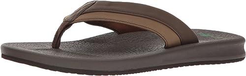 Sanuk Sanuk Hommes's Brumeister Flip-Flop, marron, 10 M US  bonnes offres
