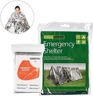 エマージェンシー シート シェルター セット 非常用テント 地震 防災 用品 サバイバル シート アルミ ブランケット 保温断熱 防寒 防暑