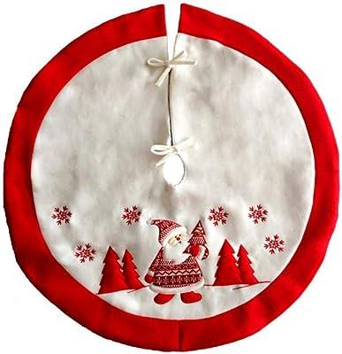 Gireshome - Falda para árbol de Navidad de 50 Pulgadas de Yute y ...