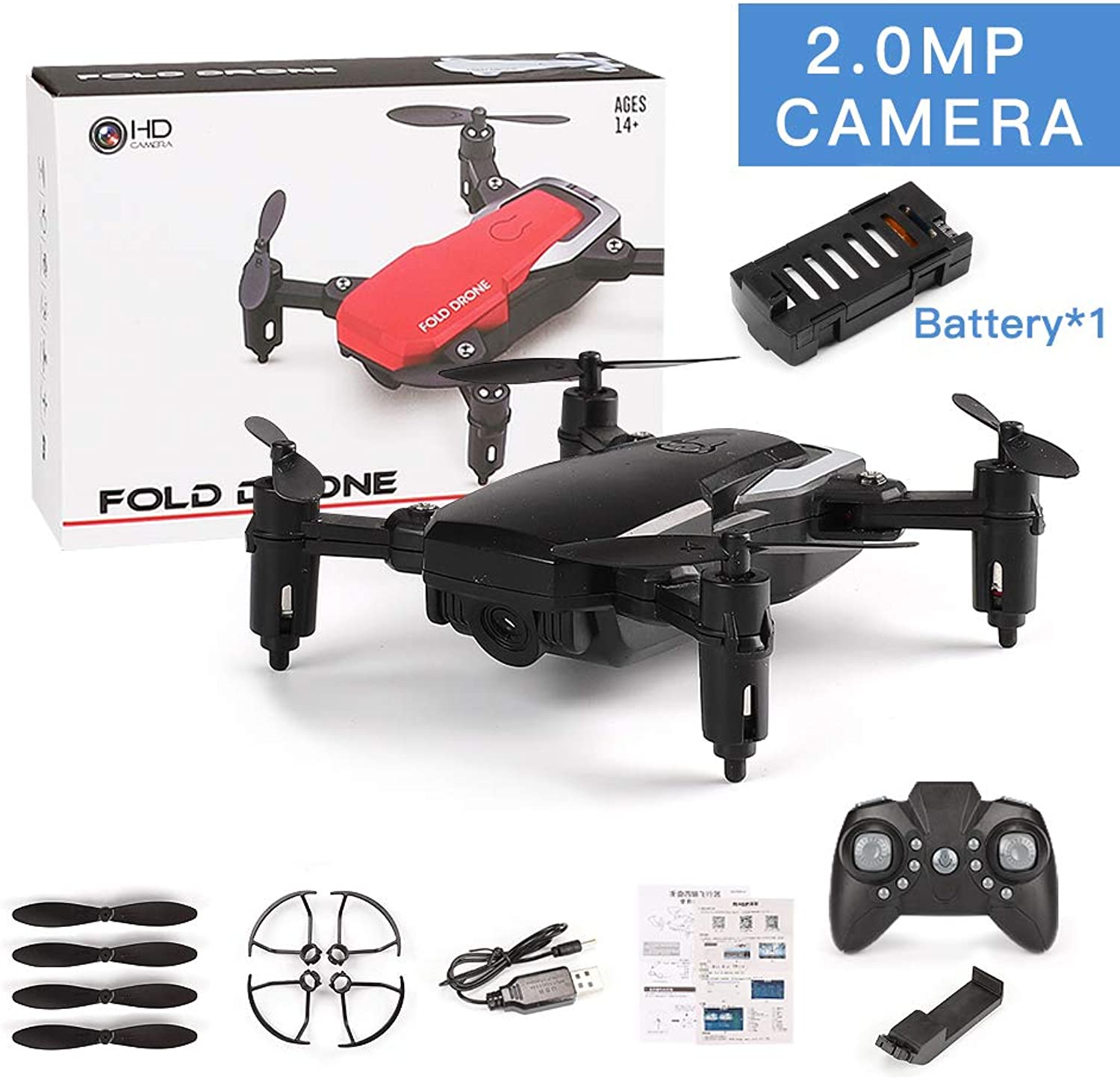 Ocamo SG800 Mini Drone with Camera Altitude Hold RC Drones with Camera HD WiFi FPV Quadcopter Dron RC Helicopter VS Z1, JDRC JD-16, HDRC D2, SM M1 2.0MP Camera WiFi Black