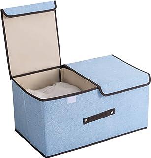 Séparée Storage Manager Cassette Fabric Pliable Storage Manager Boîte Grande Avec Couvercle Et Poignée Vêtements Tri Boîte...