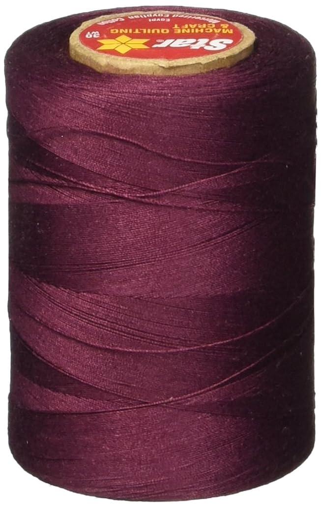 Star Thread V37-041B 3-Ply 30wt T-35 Cotton Quilting & Craft Thread, 1200 yd, Maroon