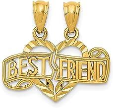 14k Yellow Gold Break Apart Best Friends Bestfriend Friendship Heart Pendant Charm Necklace Break?apart Love Fine Jewelry ...