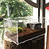 Vinnykud Caja de Alimentación de Insectos Recipiente para Animales pequeños Reptil acrílico...