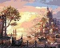 油絵アートファンタジー城 puzzle,1000ピースの木製パズル、子供用DIYジグソーパズル
