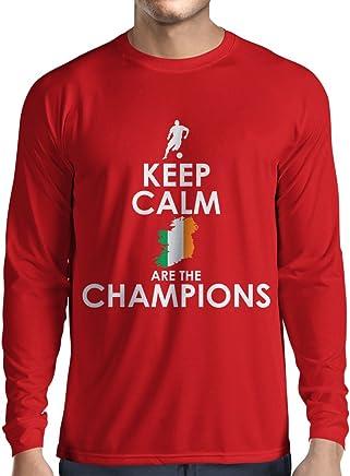 lepni.me Long Sleeve t Shirt Men Keep Calm, Irish are The Champions