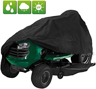 FLYMEI Lawn Mower Cover, 54 Inch Riding Lawnmower Cover for John Deere, Waterproof UV Resistant Cover for Ride-On Garden Tractor