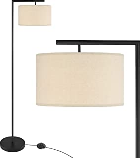 UFLIZOGH Lampadaire sur Pied Salon, 151cm E27 LED avec Abat-jour en Tissu Lumière Chaude Protection des yeux pour Salon Ch...