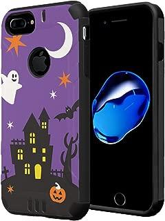 iPhone 7 Plus Case, Capsule-Case Hybrid Dual Layer Silm Defender Armor Combat Case (Black) Brush Texture Finishing for iPhone 7 Plus/iPhone 6S Plus/iPhone 6 Plus - (Halloween)