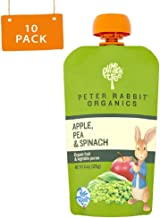 Peter Rabbit Organics Apple, Pea and Spinach Puree, 4.4 Ounce Pouches (Pack of 10)
