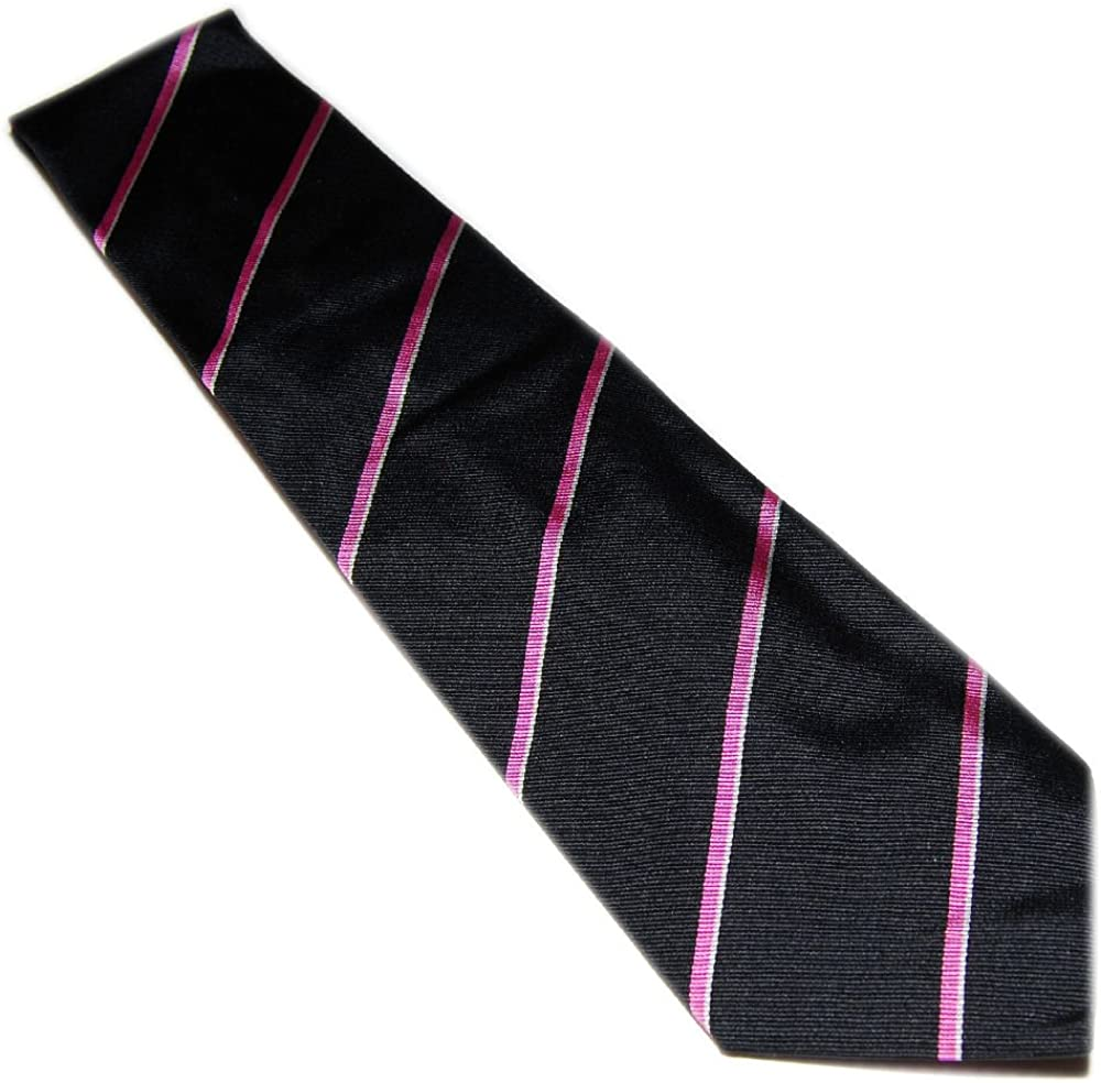 Polo Ralph Lauren New popularity Purple Label Mens Tie Black Pink Dress Stripe Limited time for free shipping