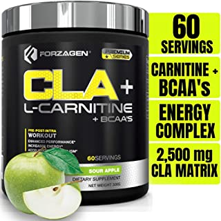 Forzagen Cla + L Carnitine + Bcaa Powder - Bcaas Amino Acids with Cla Powder Increase Energy Free Caffeine Pre Workout | 6...