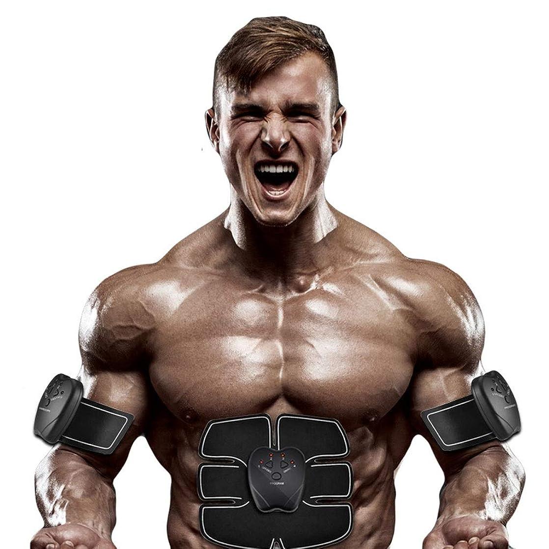 雄弁家断線アコー腹部刺激、腹部調色ベルト、マッスルトナー、ポータブルマッスルトレーナー、ボディマッスルフィットネストレーナー腹部腕用トレーニング