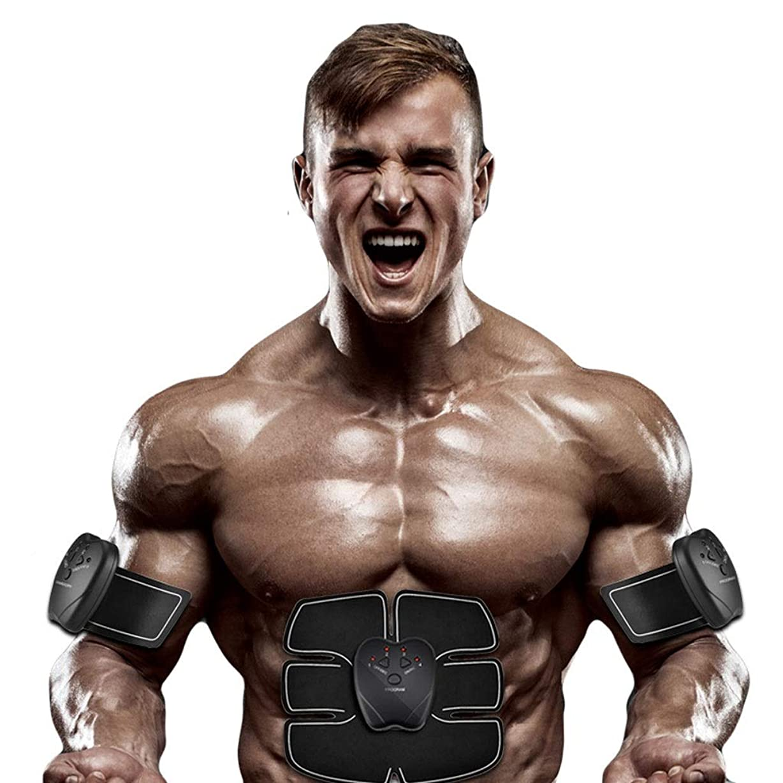 穏やかな原理グラフィック腹部刺激、腹部調色ベルト、マッスルトナー、ポータブルマッスルトレーナー、ボディマッスルフィットネストレーナー腹部腕用トレーニング