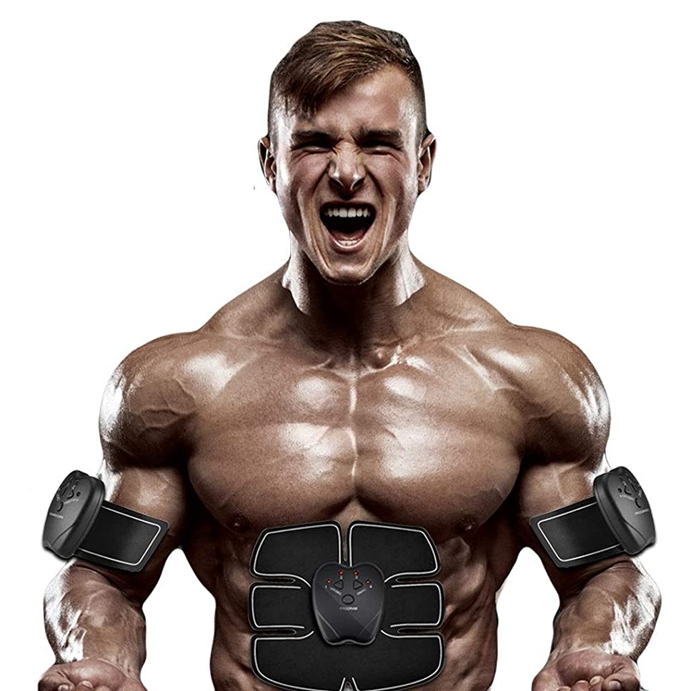 焦がす経過金額腹部刺激、腹部調色ベルト、マッスルトナー、ポータブルマッスルトレーナー、ボディマッスルフィットネストレーナー腹部腕用トレーニング