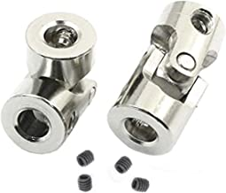 2 Pack Universal Joint Shaft Coupler Coupling Steering Connector 3/3.17/4/5/6mm for RC Car Crawler Boat (4mm to 3mm)