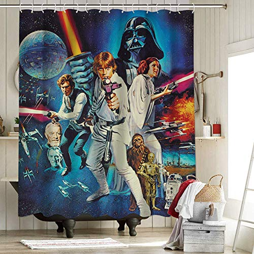 Star Wars IV - Juego de cortina de ducha...