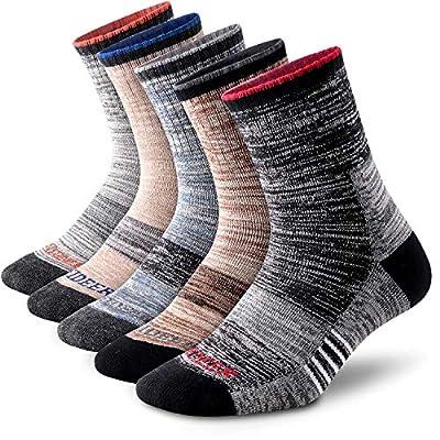 FEIDEER Men's Hiking Socks, Wicking Cushion Outdoor Sports QuarterLow Cut Ankle Socks for Men, Size 10-13 (TJ-2-5MS20105-XL)