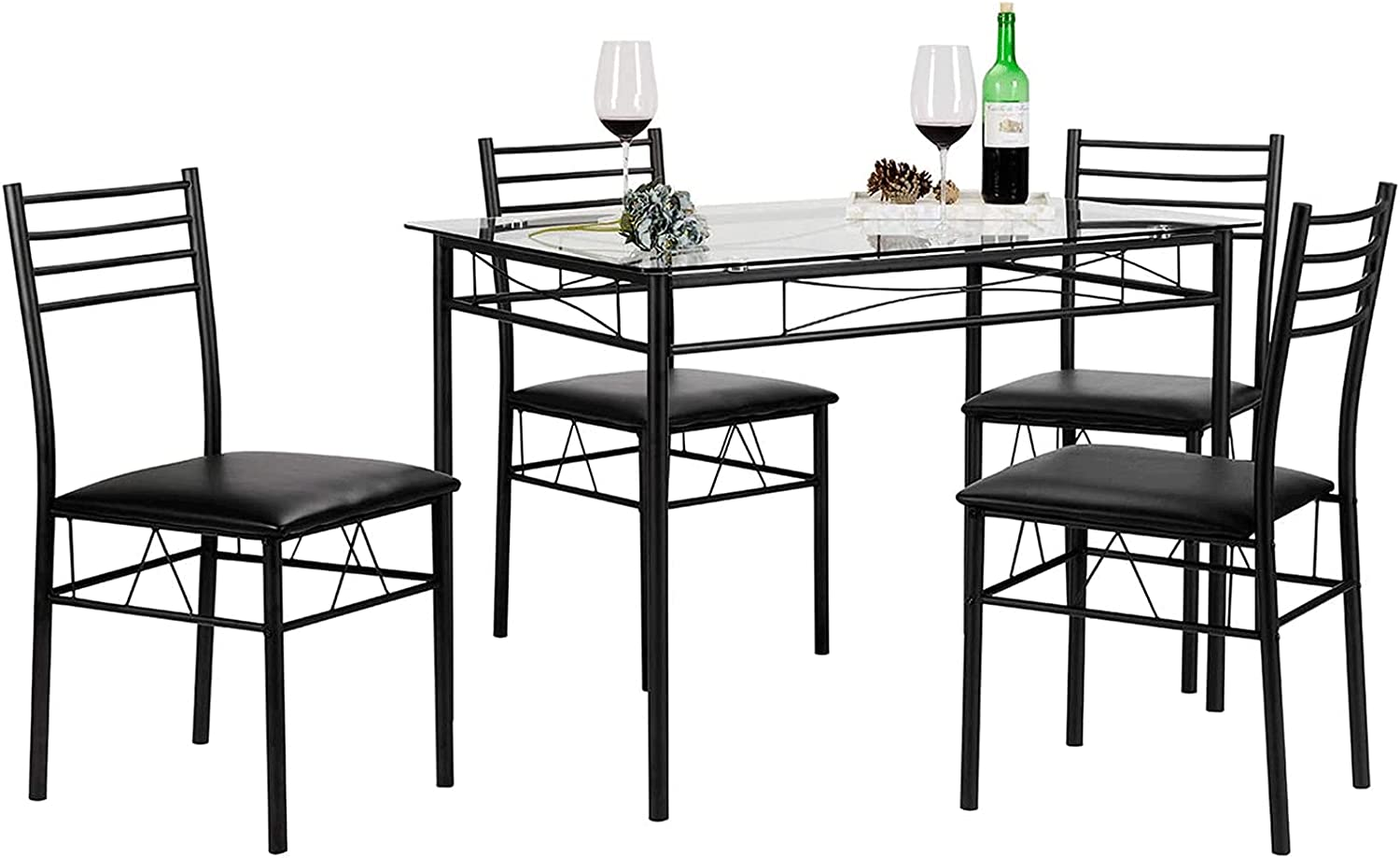 ZXZCHGN Dining Table online shop Houston Mall with Chair Chairs 4 Rectangular
