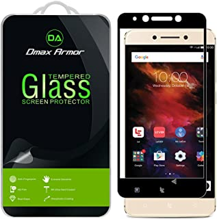 [2-Pack] Dmax Armor for LeEco Le Pro 3 / LeEco Le Pro3 [Tempered Glass] Screen Protector, (Full Screen Coverage) (Black)