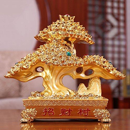 Résine Sculpture Décoration Chanceux Arbre Artisanat Cadeau Maison Vin Armoire Décorations Boutique Ouverture Cadeaux Artisanat Ornements GAOLILI (Design : D, Size : B)