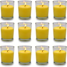 Small Citronella Candles Outdoor and Indoor Soy Wax Votive Candles for Party Dinner and Camping Set of 12 12 Hours Burn Time