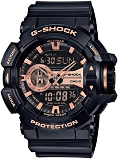 G-Shock Black and Rose Gold-Tone Dial Resin Quartz Men's Watch GA400GB-1A4